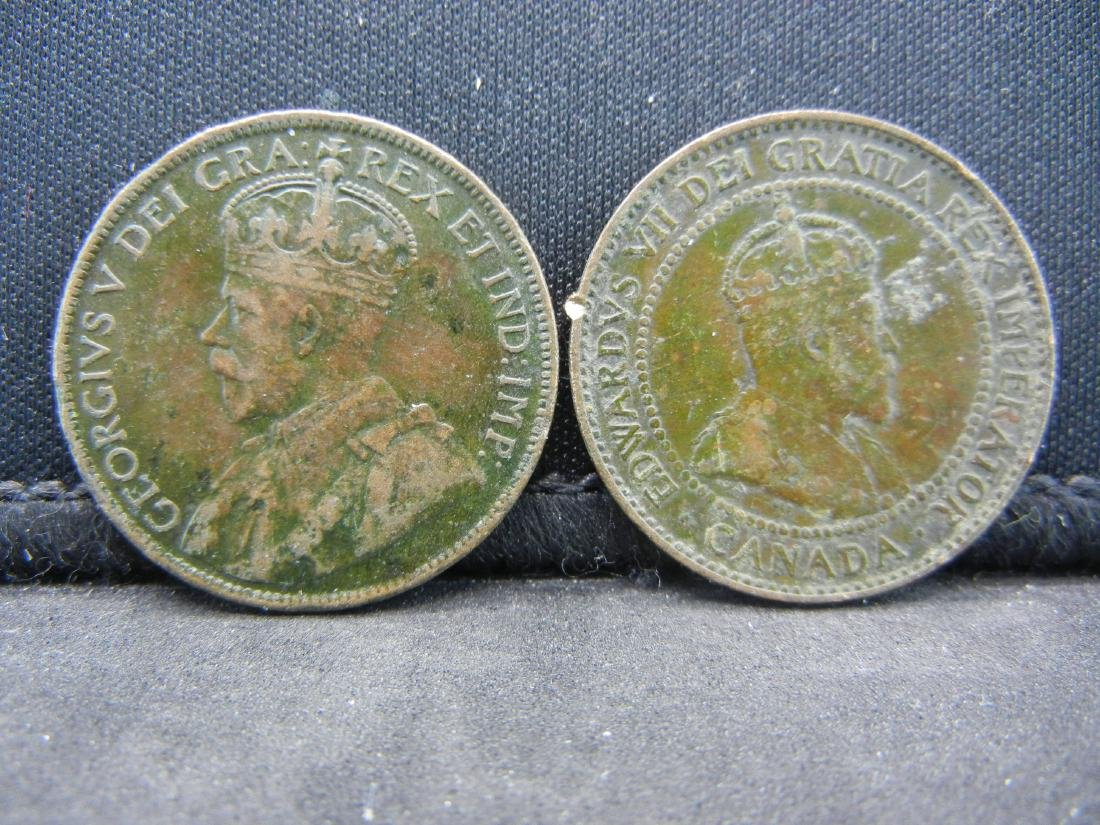 (2), CANADIAN ONE CENT'S 1908 & 1917, OVER 1 CENTURY - 2