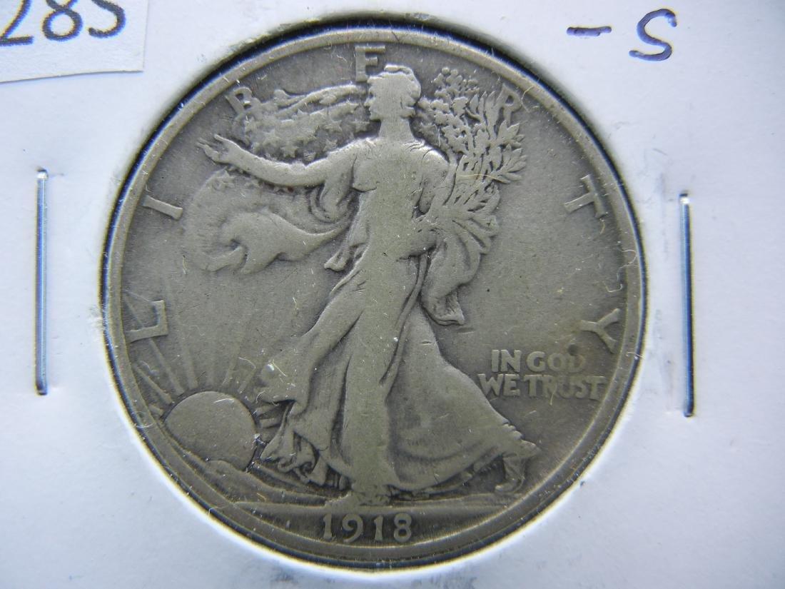 1918-S Walking Liberty Half Dollar