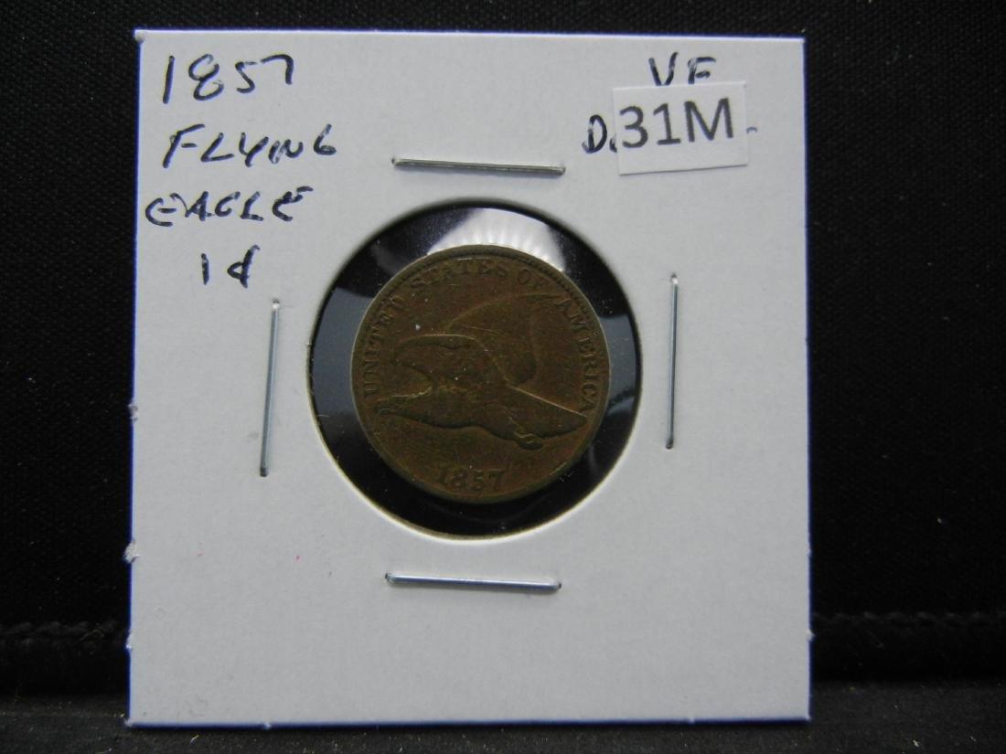 1857 Flying Eagle Cent - 3