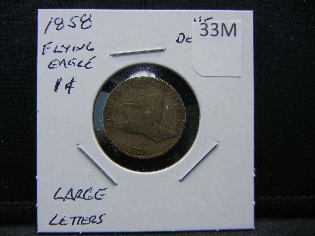 1858 Flying Eagle Cent. Large Letters - 3