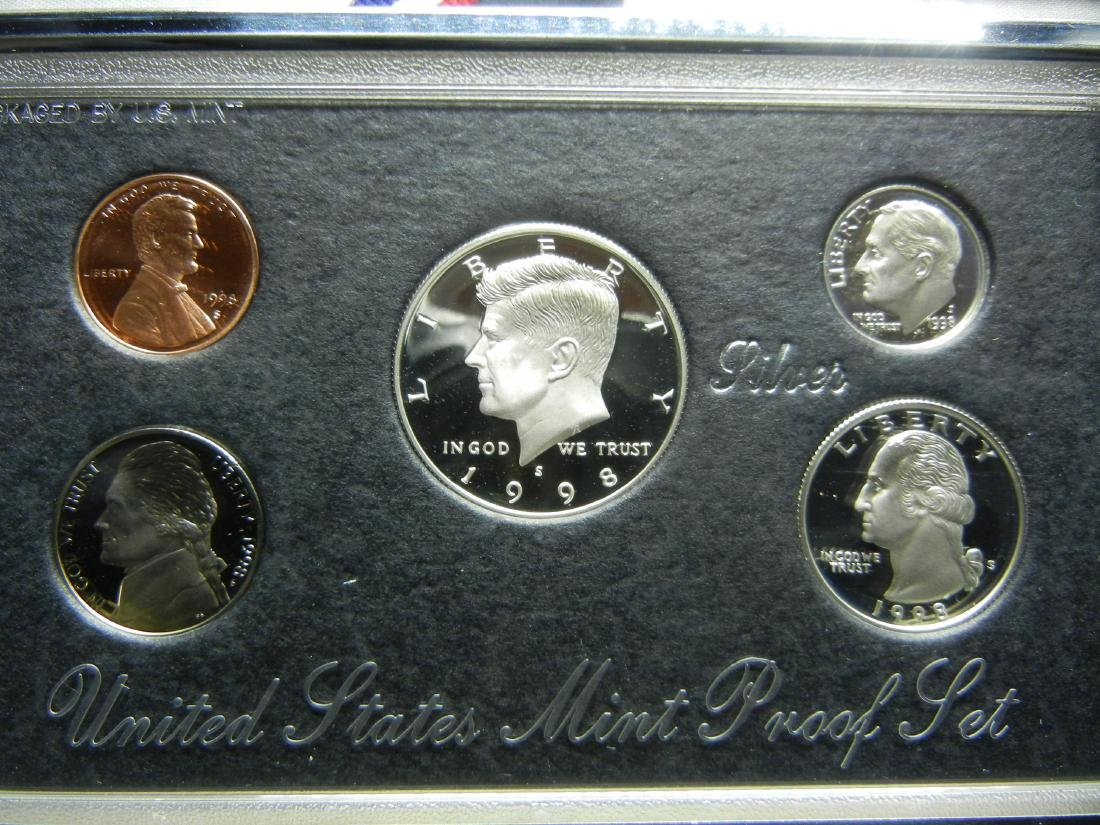 1998 Silver Premier Proof Set. - 2