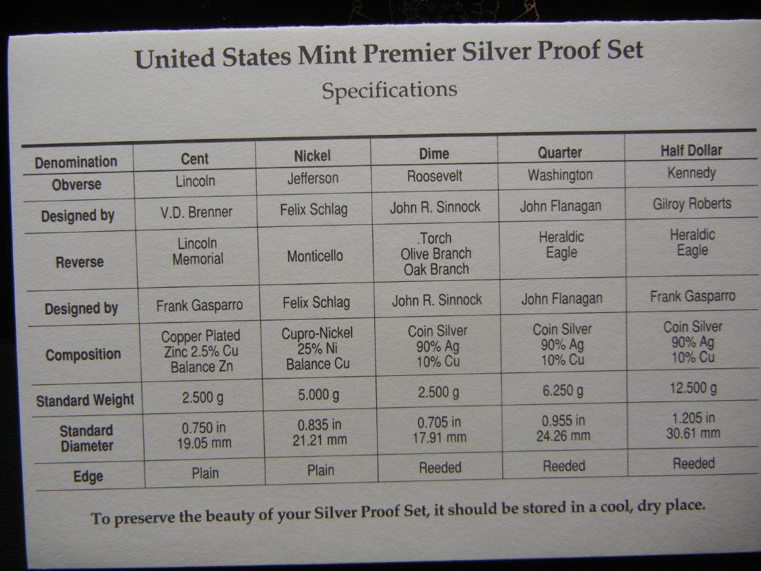 1998 Silver Premier Proof Set. - 4