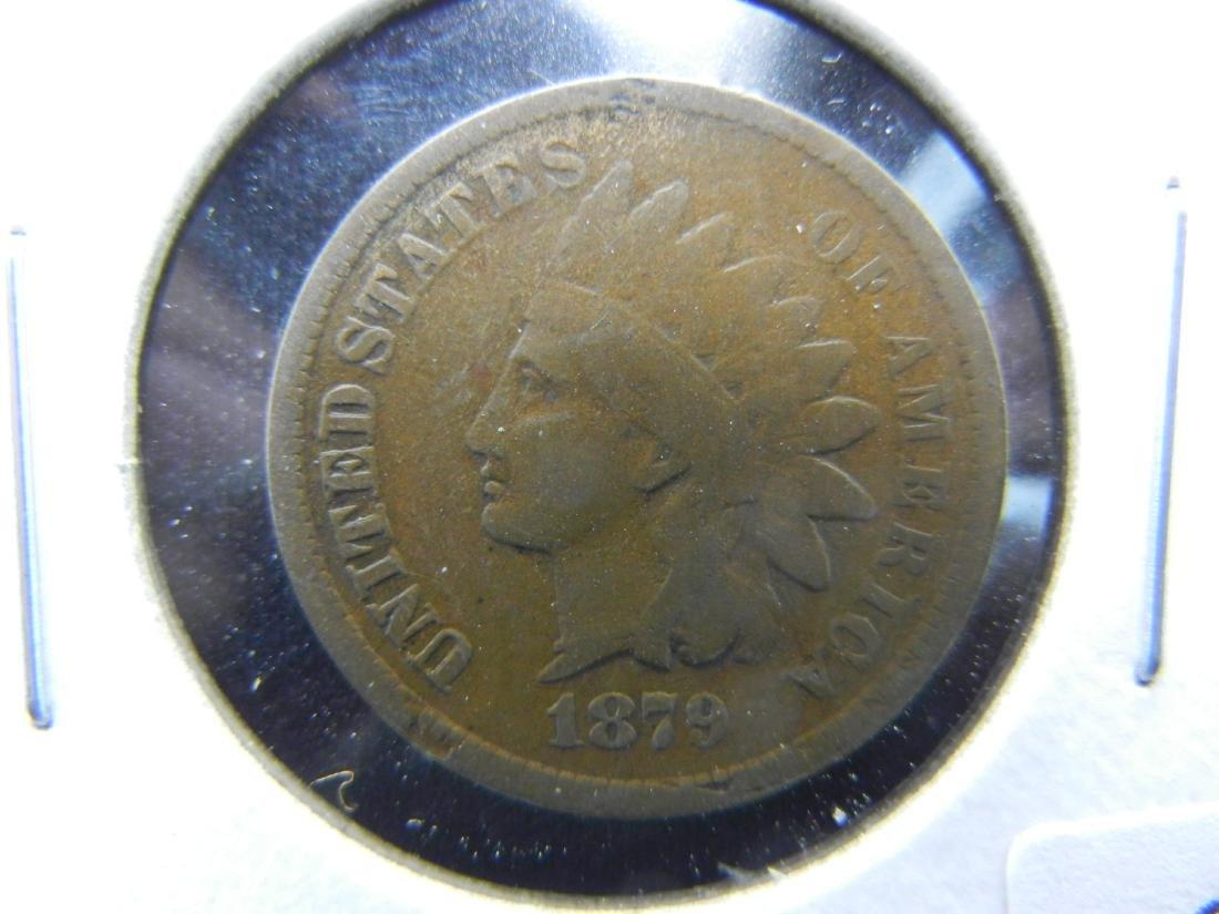 1879 Indian Cent .  Fine.