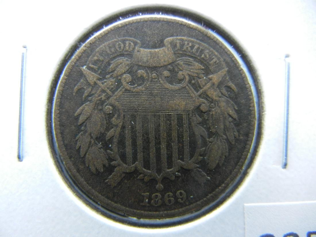 1869 2c.  VF.