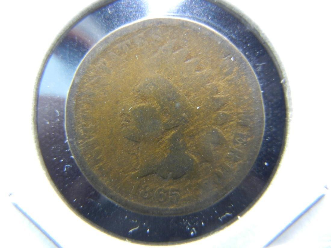1865 Indian Cent .  Good