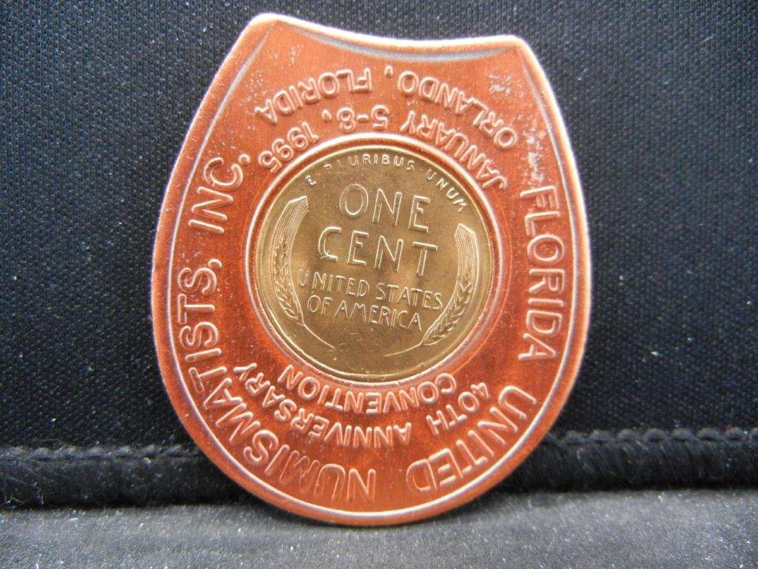 1995 FUN Show Encased 1955-D Lincoln Cent.  Nice - 2