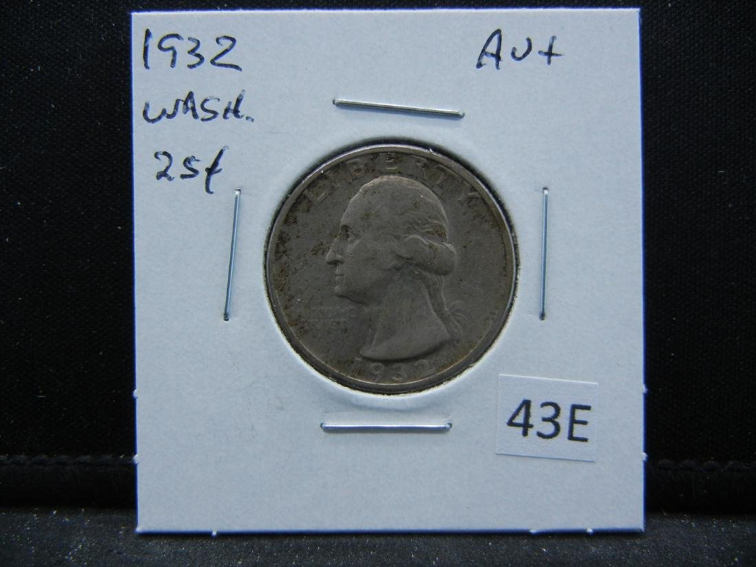 1932 Washington Quarter Dollar .  AU+. - 3