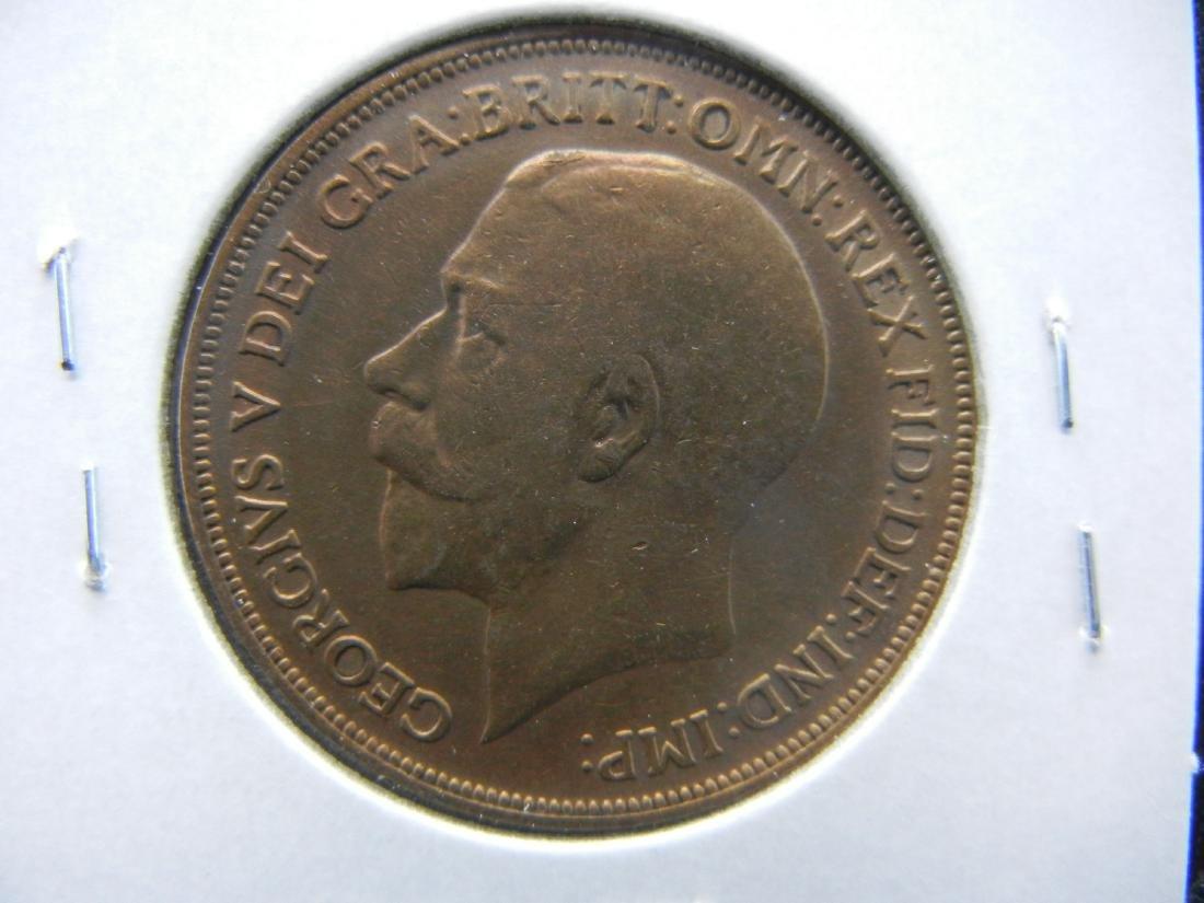 1913 Great Britain Penny.  Nice Grade. - 2