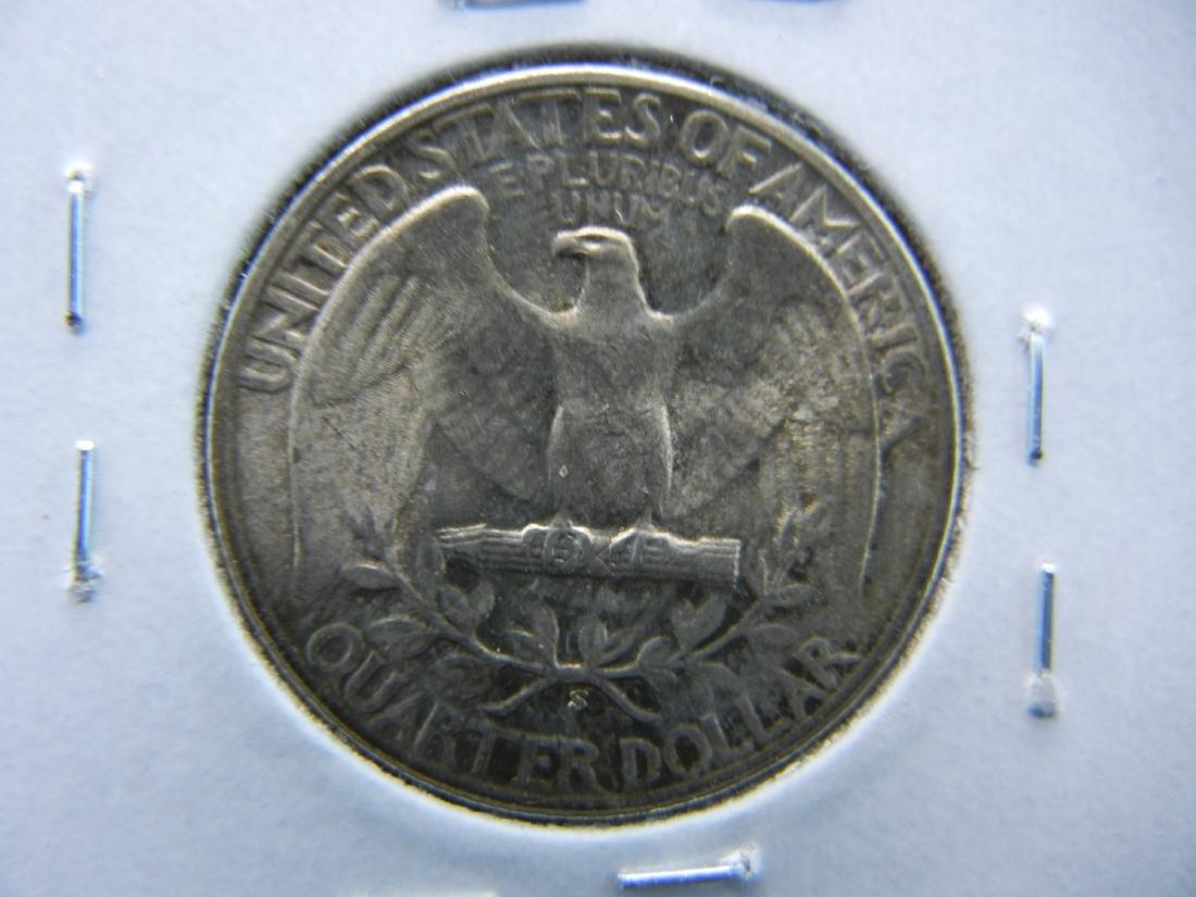 1945-S Washington Quarter Dollar .  BU. - 2