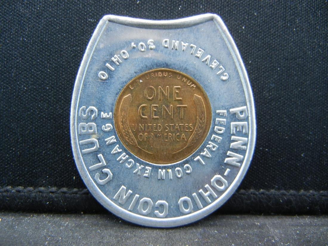 Penn-Ohio Coin Clubs. Cleveland, OH. Encased 1956-D - 2