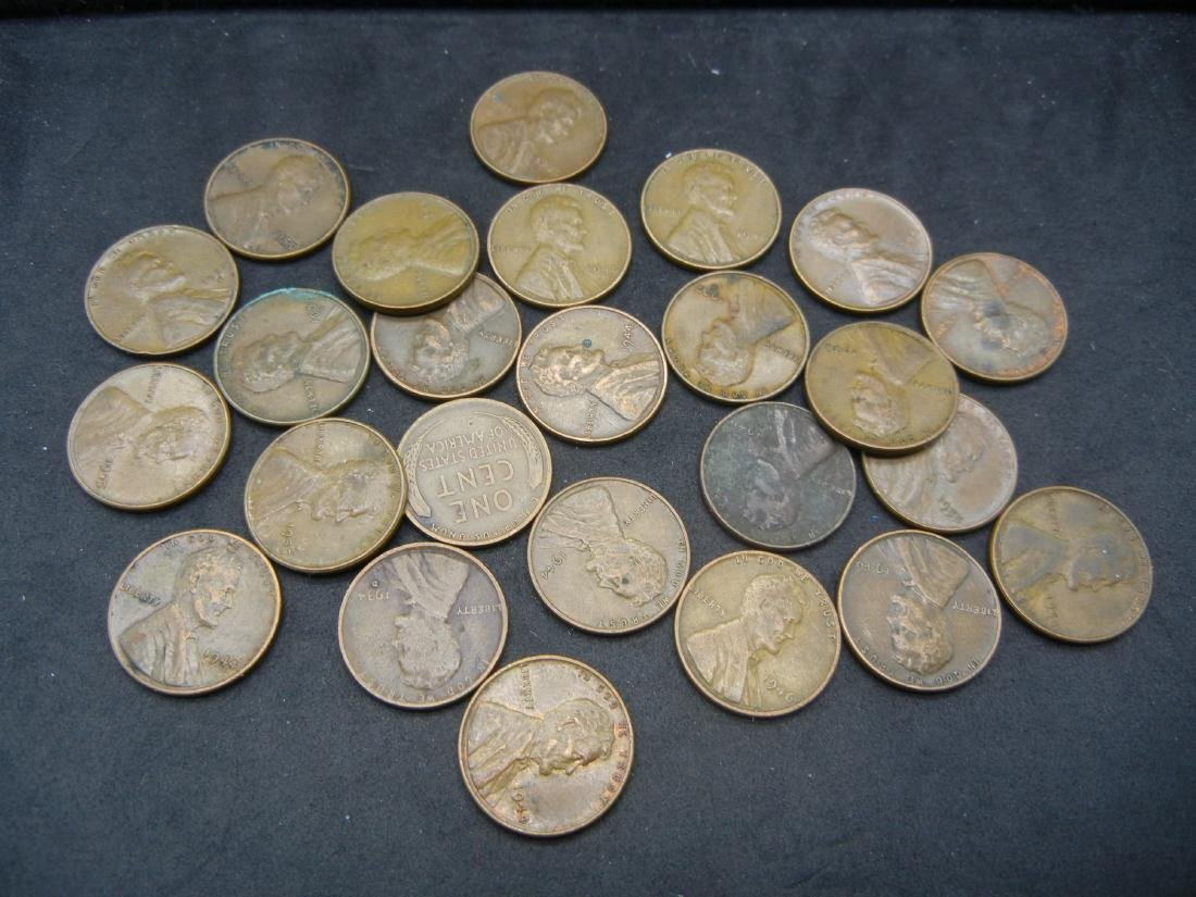 25 Lincoln Wheat Cents