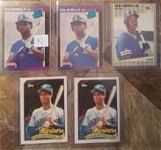 Lot Of 5 Ken Griffey Jr Rookie cards