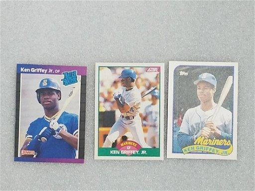 Ken Griffey Jr Rookie Card Trio