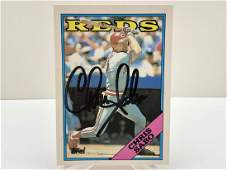 1988 Topps Traded Chris Sabo Hand Signed Rookie Card