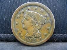 1849 Braided Hair Large Cent.