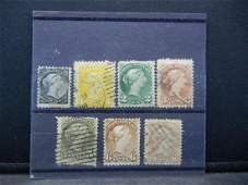 7 CANADIAN VINTAGE STAMPS 18701882 SCOTTS 3440
