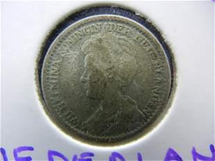 1914 Silver 25 Cents Nederlands