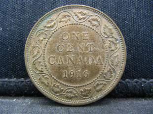 1916 Canadian George V Large Cent