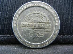 25 Cents Aztar Casino Gaming Token