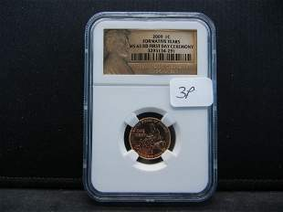 2009 NGC MS65 RD Formative Years Lincoln Cent First Day