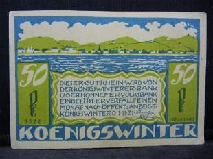 1921 Germany 50 Pfennig Voucher Serial 1522
