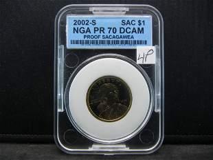 2000 S NGA PR 70 DCAM Proof Sacagawea Dollar