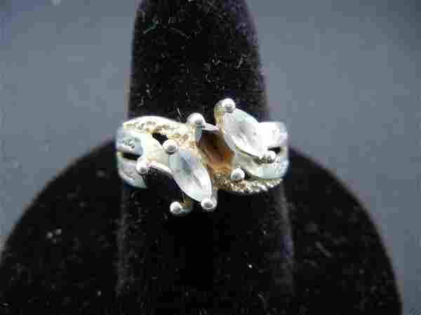 Woman's Sterling Silver Ring With Four Colored