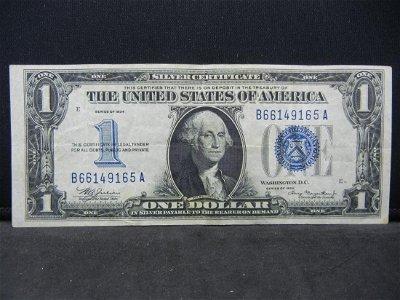 "1934 $1 ""Funnyback"" Silver Certificate, Serial #"
