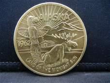 1962 Alaska Land of the Midnight Sun One Dollar Soviner