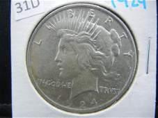 1924 Silver Peace Dollar