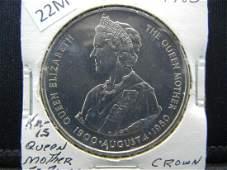 """1980 Falkland Islands 50 Pence. """"Queen Elizabeth"""""""