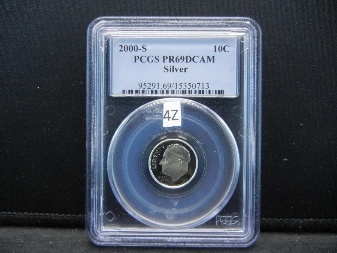 2000-S PCGS PR69DCAM Silver Roosevelt dime
