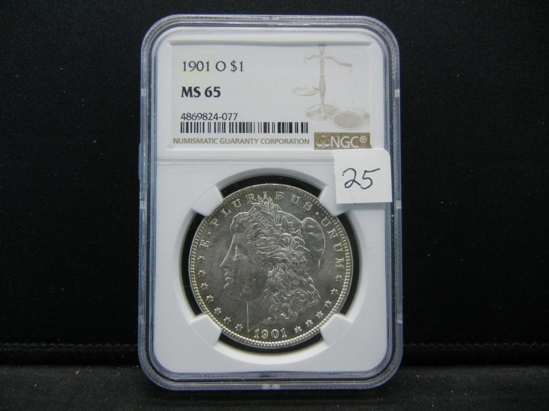 1901-O NGC MS65 Blast White Morgan Silver Dollar