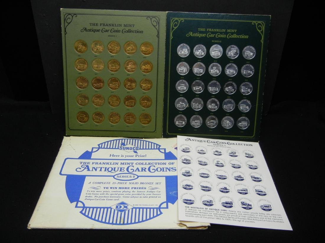 Franklin Mint Antique Car Coin Collection Series 1 and