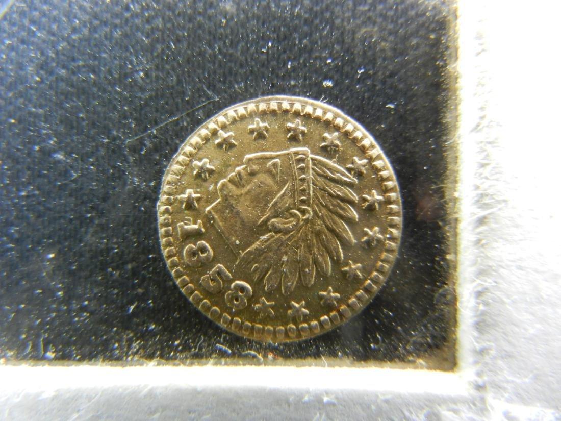1858 Gold Enhanced California Gold Quarter