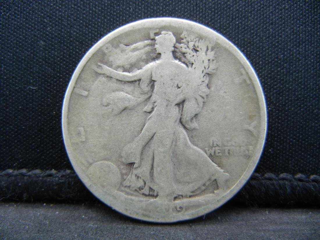 1919 Walking Liberty Half Dollar, Semi-Key Date.