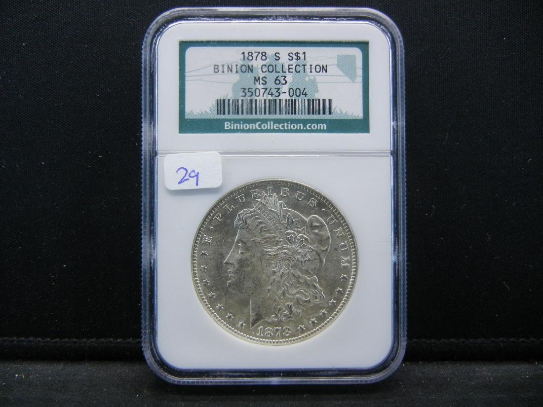 1878-S Morgan Dollar.   From the Binion Collection.   S