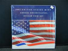 2007 US Mint Uncirculated Dollar Set Includes 999