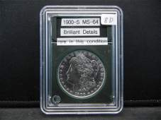 1900-S Morgan Silver Dollar. BU Gem. Wow Rare in this
