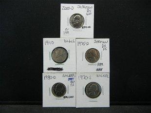 Lot 1301: 1981-D Jefferson Nickel, Error Coin - Dec 14, 2003   Early