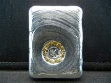 3 Troy Ounces Poured .999 Silver bar with Gold Nuggets