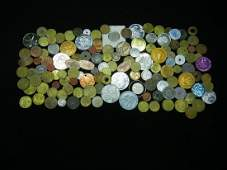 2114 OZ US SILVER CASINO CHIPS FOREIGN COINS