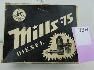 Aurora Model Mills 75 Diesel Model Engine w/ original