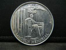 LINCOLN MEMORIAL TOKEN UNCIRCULATED WOULD MAKE A