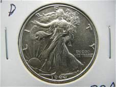 1944 D Walking Liberty Half Dollar High Grade