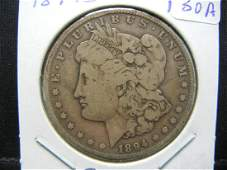 1894S Morgan Silver Dollar Nice Fine One of the
