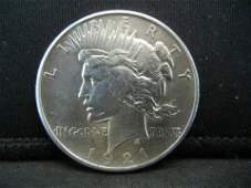 1921 Peace Dollar CH BU Key Date