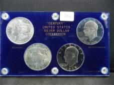 1921 Morgan Silver Dollar BU 1923 Peace CH BU 1976,