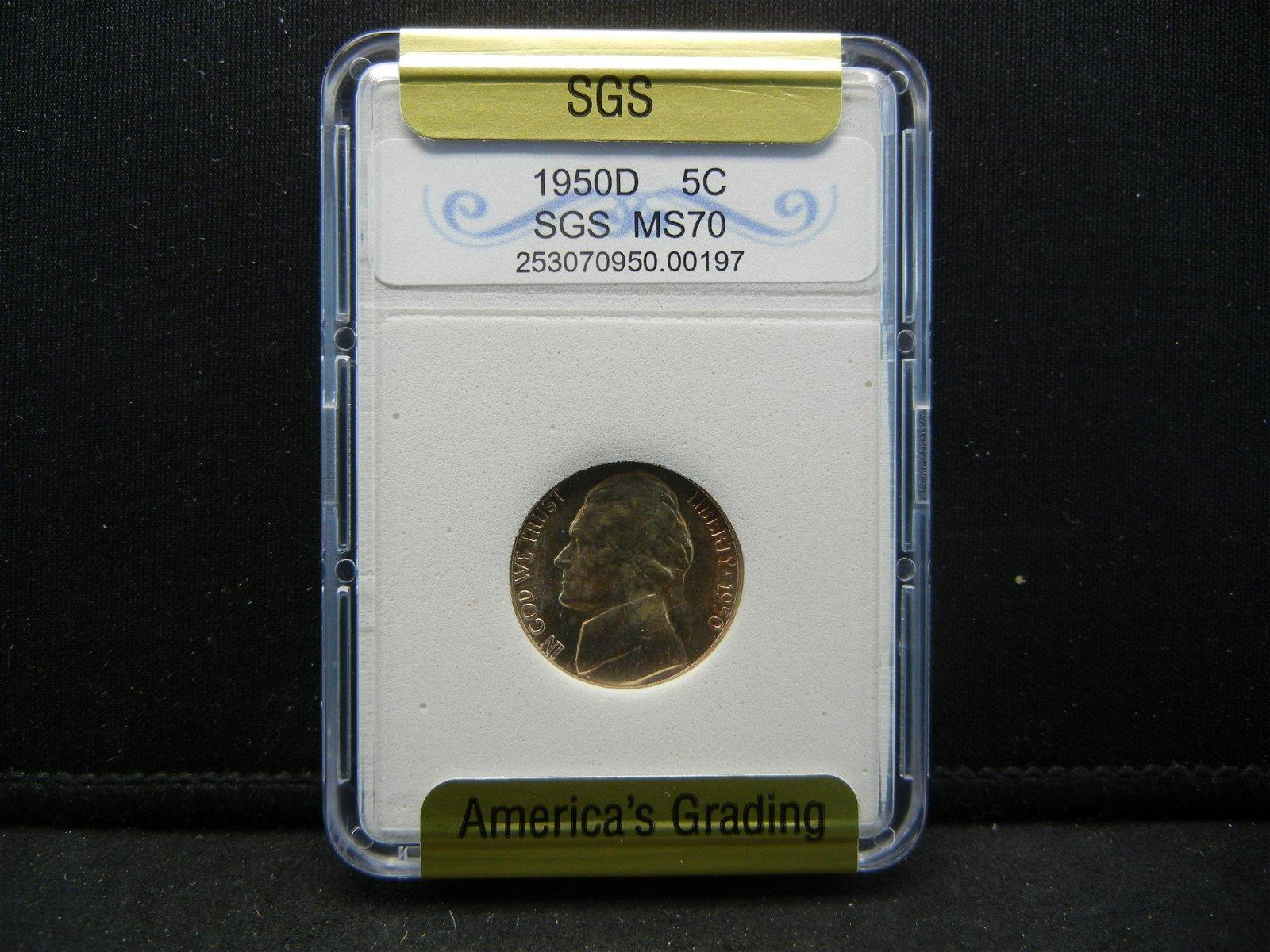 1950-D SGS Jefferson Nickel
