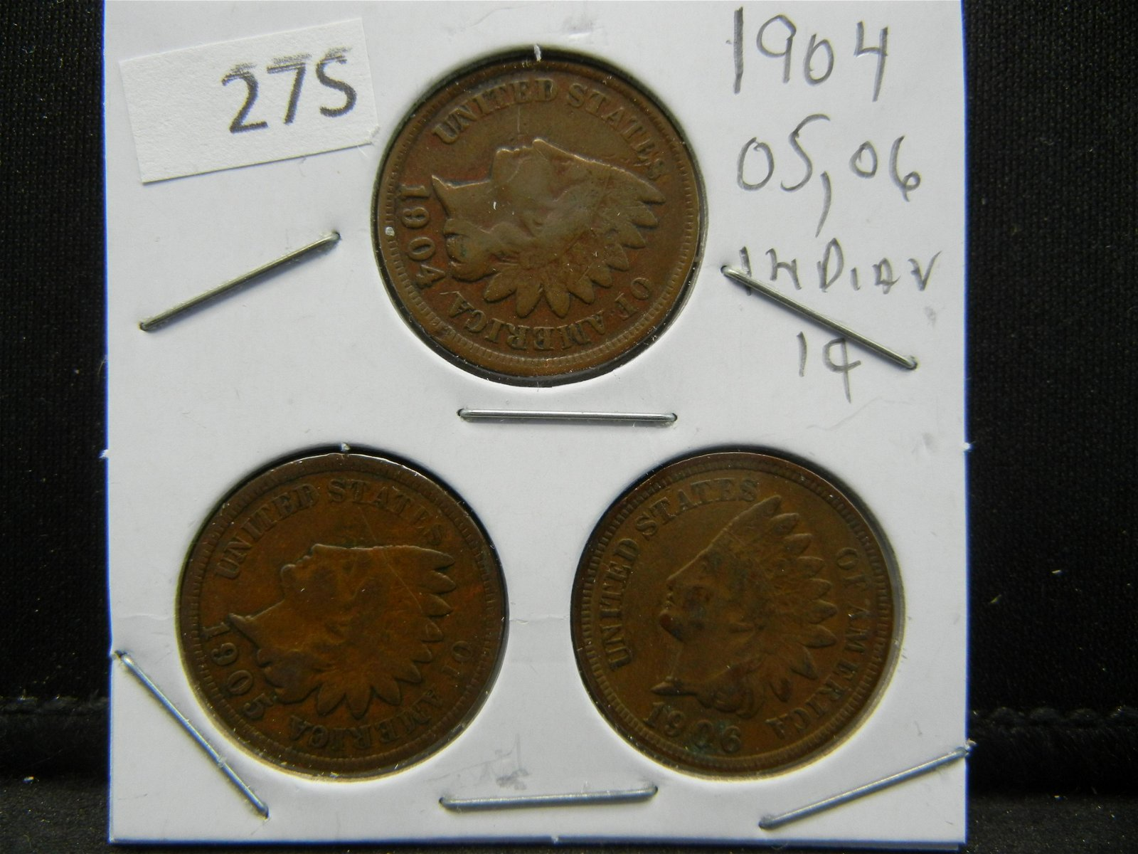 1904, 05, 06 Indian Head Cents